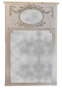 Demeure et Jardin - trumeau gris louis xvi grand modèle - Trumeauspiegel