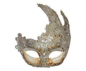 Demeure et Jardin - masque vénitien dentelle demi-lune - Maske