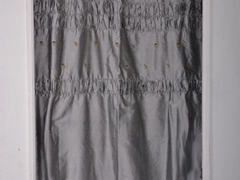 Coquecigrues - paire de rideaux balancelle bleu - Fertigvorhänge