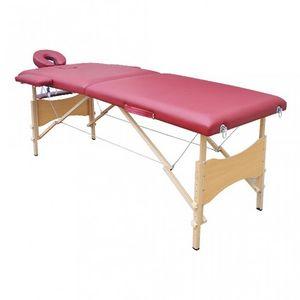 WHITE LABEL - table de massage 2 zones rouge - Massagetisch