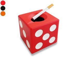 WHITE LABEL - cendrier dé à jouer noir accessoire fumeur mégot c - Aschenbecher