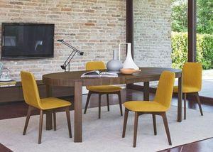 Calligaris - table repas extensible ovale atelier de calligaris - Ovaler Esstisch