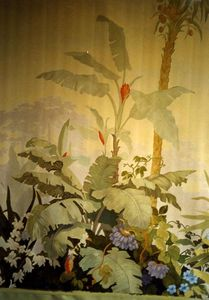 Atelier Follaco - décor peint style zuber - Wanddekoration