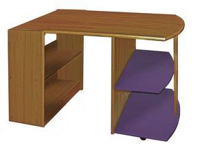 WHITE LABEL - bureau enfant en pin massif coloris antique et li - Kinderschreibtisch