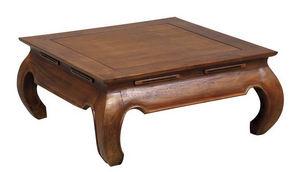 Aubry-Gaspard - table basse opium 100x100x35cm taille 2 - Couchtisch Quadratisch