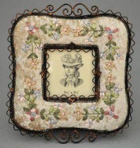 Demeure et Jardin - cadre carré à fleurs - Rahmen