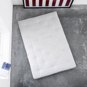 WHITE LABEL - matelas futon traditionnel écru 140*200cm - Futon