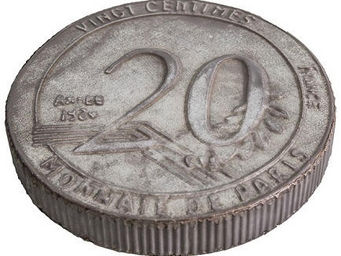Antic Line Creations - dessous de plat zinc 20 centimes - Untersetzer