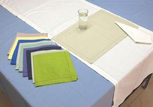 ITI  - Indian Textile Innovation - solid with hemstitch - Tischdecke Und Passende Servietten