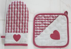 ITI  - Indian Textile Innovation - heart - Ofenhandschuh
