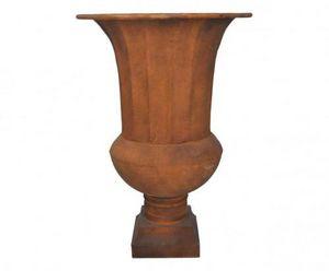 Demeure et Jardin - vase médicis en tôle patine rouille - Medicis Vase