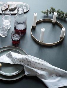 Ferm Living - candle holder circle-- - Weihnachtskerzenständer