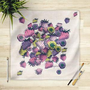 la Magie dans l'Image - foulard fraises - Vierecktuch