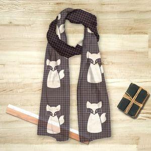 la Magie dans l'Image - foulard renard noir - Vierecktuch