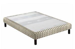WHITE LABEL - sommier tapissier epeda armuré naturel confort moe - Fester Federkernbettenrost