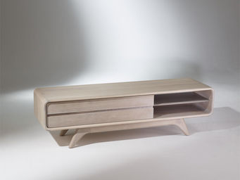 robin des bois - meuble tv scandinave en chêne, sixty - Hifi Möbel