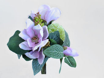 NestyHome - bouquet de magnolias rose - Kunstblume