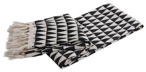 Aubry-Gaspard - plaid en coton triangles - Plaid