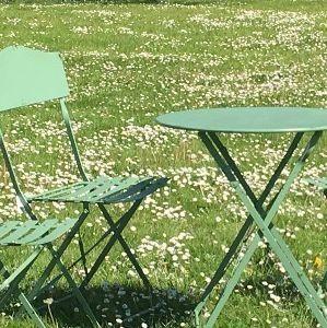CHEMIN DE CAMPAGNE -  - Rundes Gartentisch
