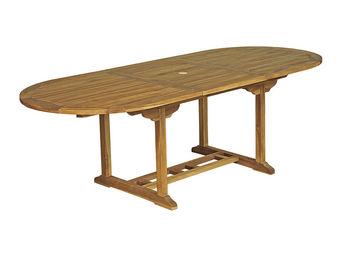 CEMONJARDIN - table ovale baya l 180/240 - 100 - teck huilé - Gartentisch Oval