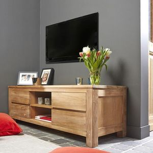 BOIS DESSUS BOIS DESSOUS - meuble tv en bois de teck 150 boston - Hifi Möbel