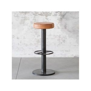 MANUFACTORI - tabouret de bar steel cuir - Barhocker