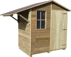 Cihb - abri de jardin avec abri bûches en pin brio 2 - Holz Gartenhaus