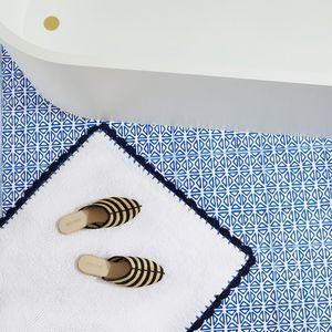 Zara Home - modèle bicolore - Badematte