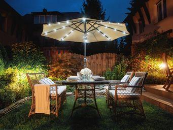 BELIANI - parasol - Leucht Sonnenschirm