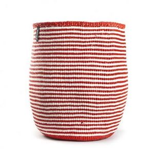 MIFUKO - kiondo à rayures rouges et blanches - Aufbewahrungskorb