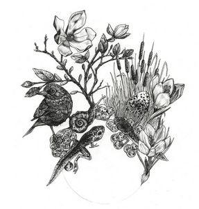 ANNA BOROWSKI - printemps - Bleistiftzeichnung