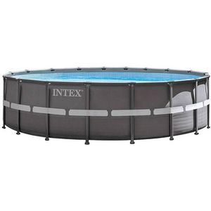 INTEX - piscine hors-sol tubulaire 1422042 - Pool Mit Stahlohrkasten
