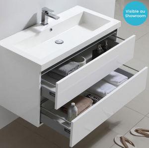 Thalassor - city 100 bianco - Waschtisch Möbel