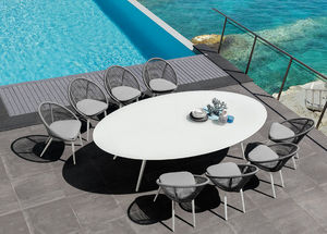 ITALY DREAM DESIGN - rope - Gartentisch Oval