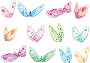DECOLOOPIO - frise papillons - Kinderklebdekor