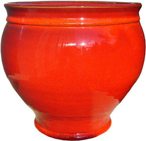 AMBIANCES & MATIERES DIFFUSION - vase pivoine 20 rouge - Garten Blumentopf