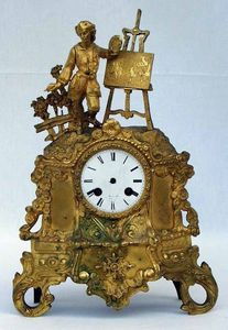 Antiquités Eric de Brégeot -  - Kleine Pendeluhr