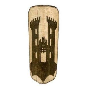 Peter Finer - an extremely rare bohemian pavise, ravensburg, circa 1490. - Schild