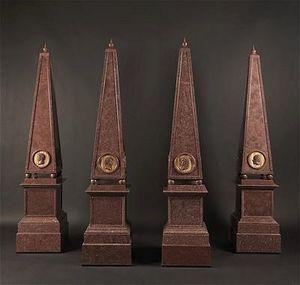 Adrian Alan - suite de quatre obélisques en porphyre - Obelisk
