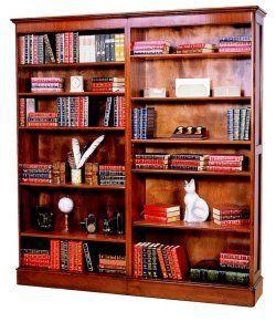 Country Desks - director bookcase - 2 linked - Bibliothek