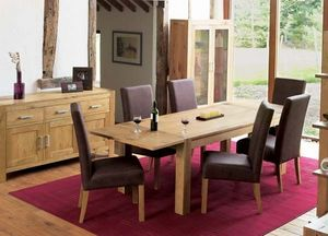 Art Glass - lyon oak dining room set - Wohnzimmerschrank