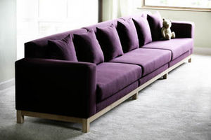 Pietersen Furniture Makers - a long, elegant sofa upholstered in felted wool on - Sofa 5 Sitzer