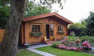 Norwegian Log Chalets - home offices - Holz Gartenhaus