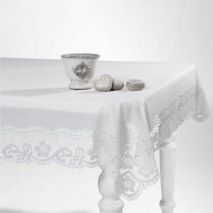 MAISONS DU MONDE - nappe séville blanc - Rechteckige Tischdecke