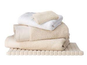 BLANC CERISE - drap de douche ficelle- coton peigné 600 g/m² - un - Handtuch