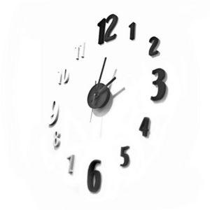 WHITE LABEL - horloge chiffres à coller sur le mur - Pendelwanduhr