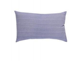 BLANC D'IVOIRE - coussin ikat indigo - Rechteckige Kissen