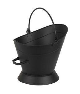 AUBRY GASPARD - seau à cendres noir en métal 38x28x35cm - Ascheneimer