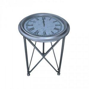 Demeure et Jardin - guéridon horloge - Sockeltisch