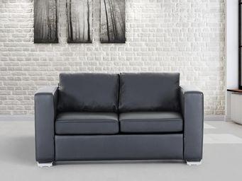 BELIANI - canapés en cuir - Sofa 2 Sitzer